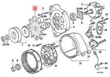 Genuine BMW E23 E24 E28 E30 E32 E34 E36 Alternator Fan Wheel OEM 12311735306