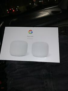 Google Nest Wifi Router and Point - Snow