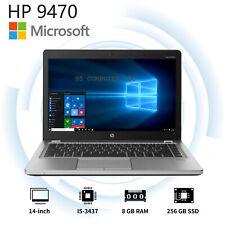 HP LAPTOP 9470m ELITEBOOK FOLIO WINDOWS 10 PRO CORE I5 WEBCAM WIFI 8GB 256GB SSD