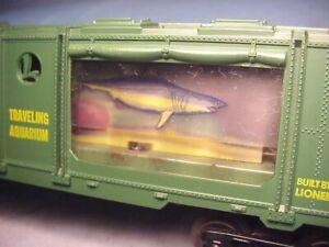 LIONEL TRAIN #3435 POSTWAR AQUARIUM SEA CREATURES CAR w/WINDOWS-1959 WORKS EX-!