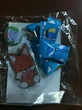 Bellzi Foxii Keychain Bell Lanyard Narwhali Pins Foxii Stickers *New/Sealed*