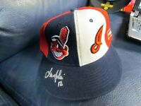 Lou Merloni Autographed Baseball Hat Cap Cleveland Indians