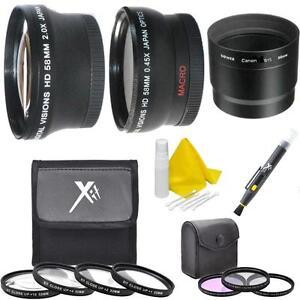 58mm Lens Filter Accessory Kit for Canon PowerShot G15 G16 Digital Camera