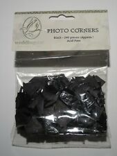 Vintage WEDDING STAR Collection Photo/Scrapbook Mounting Corners - Black