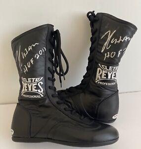 Julio Cesar Chavez Signed Cleto Reyes Profesional Boots HOF 2011 PSA 8A33922
