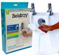 Push On Double Tap Bath Sink Shower Head Hose Spray Hairdresser Pet Sink Mixer