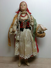 Vintage (1920s-1940s) Regional costume Soviet/Russian  Cloth Doll