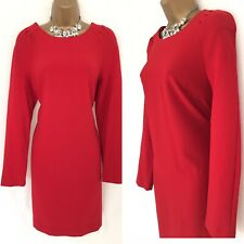 NEXT Dress Size 16 Red Long sleeved Occasion Evening party BNWT A92