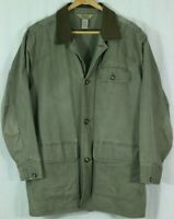 Vintage L.L. Bean Barn Coat Men's XL Tall Cowhide Collar Cotton Jacket Pockets