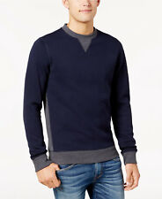 Bar III Men's Cotton Quilted Sweatshirt, Blue and Gray, Size Large
