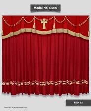Saaria Church Velvet Stage Curtains Event Theater Backdrop Drapes 8'Wx8'H Panel