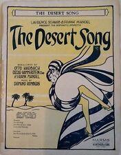 """SIGMUND ROMBERG """"THE DESERT SONG"""" SHEET MUSIC 1926 harms"""