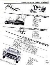 1967 1968 PLYMOUTH  BELVEDERE SATELLITE GTX 67 68 MOTOR'S CRASH LLUSTRATIONS M3