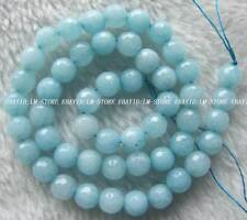 """8mm Blue Jade Faceted Round Loose Beads Stone 15"""""""