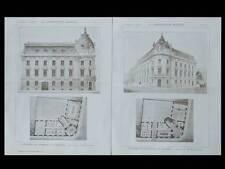LA CONSTRUCTION MODERNE n°39- 1904- ROANNE, CHAMBRE DE COMMERCE, BLANVILLAIN