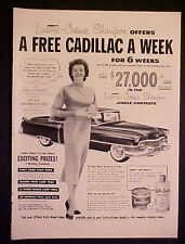 1954 Jane Russell Lustre Creme Shampoo Cosmetics Movie Cadillac Car Offer Art ad