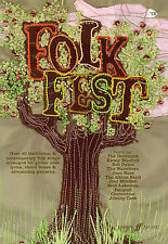 Folk Fest Guitar Song Lyrics & Chords Music Book Learn JOHN DENVER JOAN BAEZ HIT