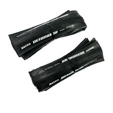 x2 Maxxis Detonator 700 x 28C Road Bike Bicycle Foldable Clincher Tire Tyre BLK