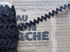 MERCERIE ANCIENNE-GALON CROQUET NOIR-Larg.12mm/au m