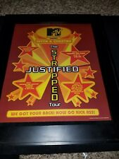 Christina Aguilera & Justin Timberlake Mtv Justified Promo Poster Ad Framed!