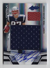 2010 Absolute Rob Gronkowski Rookie Premier Materials Jersey Ball Auto Rc 06/10