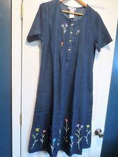 The Paragon Women's Large Flowery Denim Dress   NEW
