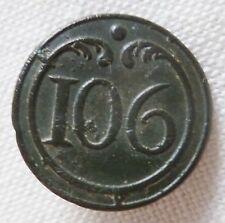 Bouton plat 1° EMPIRE Napoléon 106° Infanterie de ligne 15 mm Russie 1812 button