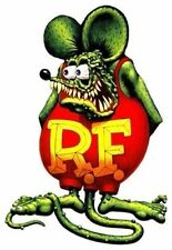 "Nostalgic RAT FINK Vinyl Decal Sticker 10"" tall"