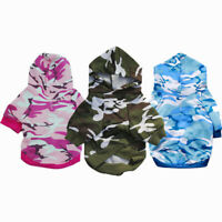 Spring Pet Dog Clothes Camo Dog Hoodie Coat Pet Puppy Clothes For Small Dogs