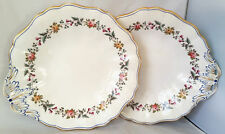Spode?~Victorian~Antique~Hand-Painted~Floral~Gold~Cake~Tea~Plates~C.1850+~Party!