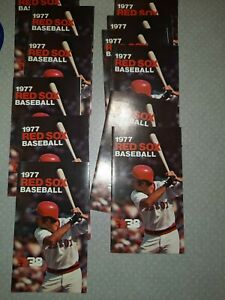 Lot of (12 )1977 BOSTON RED SOX BASEBALL POCKET SCHEDULE