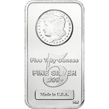 5 oz. Highland Mint Silver Bar - Morgan Dollar Design .999+ Fine