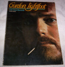 Gordon Lightfoot Old Dan's Records songbook piano vocal guitar 1973 Moose WB