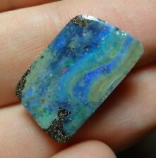 Lapidary: 10.85 Carat Natural, Polished Solid Boulder Opal From Quilpie, QLD