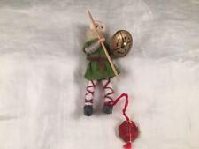 Vintage Anne Beate Design Pixie Doll Lead Feet Yarn Wrap Denmark Soldier w/Tag