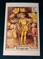 CICELY MARY BARKER FLOWER FAIRIES POSTCARD, THE KINGCUP FAIRY, FAIRY ALPHABET