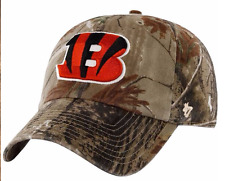 CAMO Cincinnati Bengals BASEBALL HAT Adjustable NFL Cap Hunting Realtree Design