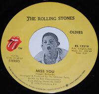"THE ROLLING STONES 45~Miss You / Far Away Eyes~CLEAN VINYL 7"" Single"