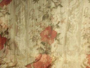 3 Better Homes & Gardens Rose Floral Curtain Panels