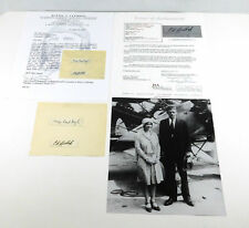 Charles Lindbergh / Anne Lindbergh Signed Cut with 8 x 10 Photo JSA Auto