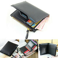 Fashion Men Faux Leather Wallet Pocket Card Holder Clutch ID Credit Bifold Purse