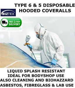 PAINTING BODYSHOP COVERALLS (TYPE 6 & 5 SAME AS TYVEK) BIZTEX ST40.OVERALL.SPRAY