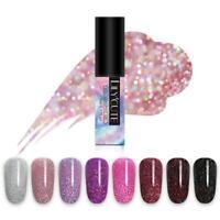 LILYCUTE 5ml  Glitter UV Gel Polish Sparkly Holographic Soak Off Nail Gel