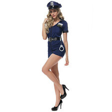 Sexy Free Size Police Cop Uniform Fancy Dresses Halloween Costumes For Women