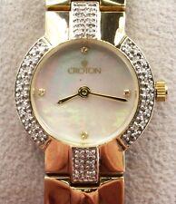 14K Diamond Ladies Watch Mother of Pearl Croton Swiss Quartz   WHOLESALE