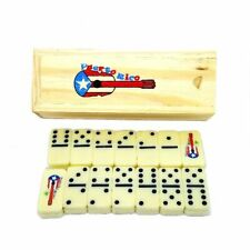 MINI Puerto Rico Guitar Double Six Dominos Dominoes Boricua Rican * TRAVEL SIZE