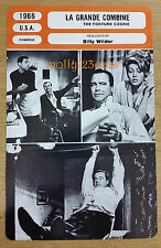 US Movie The Fortune Cookie Walter Matthau Jack Lemmon French Film Trade Card