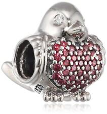 f94371a72 Pandora Sterling Silver Red Robin Bird Charm 791731CZR S925 ALE FREE POUCH