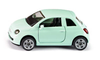 SIKU 1453 - Fiat 500 Car, Children's Toy, Metal / Plastic, Rubber Tires, Green
