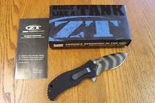KAI Zero Tolerance ZT 0350TSST A/O Folding Knife Tiger Stripe S30V G-10 PRIORITY
